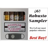 6 Robusto Cigar Sampler FREE SHIPPING