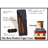 Perfecto ABS Hard Shell 3 Cigar Holder / Cigar Case Humidor