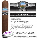 Limited Edition 20th Anniversary Toro Cigar Sumatran