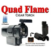 New Quad Flame Jet Torch Lighter