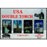 USA Monuments Double Torch Lighter Set of 4