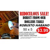 Flash Sale Fresh Rolled Habano Robusto  $3.99 Special