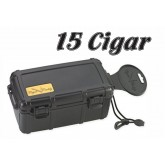 ABS Hard Shell 15 Cigar Case W/Humidifier