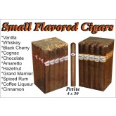 Bobalu's Small Flavored Cigars Whiskey petite 30 x 4 bundle of 25
