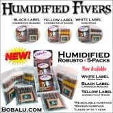 NEW! Bobalu Resealable Humidified 5 cigar packs