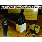 Perfecto Single Cigar Tube with Hygrometer