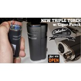 Triple Flame Torch Cigar Lighter with cigar punch