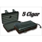 ABS Hard Shell 5 Cigar Case Humidified