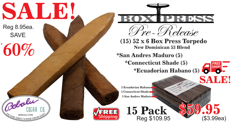 Box Press Cigar Torpedo Sale