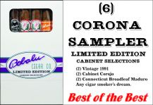 6 Corona Limited Edition Cabinet Selection Sampler