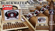 "BlackWater ""Alumni""  Cigar Kit  60 x 5 Torpedo Box/10 + FREE SHIPPING"