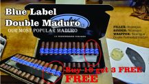 Bobalu Double Maduro Blue Label Half Box buy 10 get 3 free