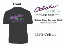 Bobalu logo T shirt Black Sizes M-XXXL