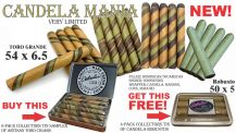 6-Pack Collectors Tin SAMPLER  of Artisan TORO Cigars + FREE 4-pack of Candela Robustos