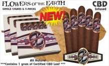 Flowers of the Earth Limited Edition CBD Infused Cigars Robusto Single