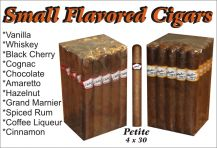 Bobalu's Small Flavored Cigars Whiskey petite 30 x 4 Single cigar