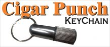 Metal Cigar Punch Keychain