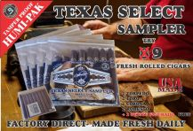 Texas select is our signature brand. All Texas Select cigars are rolled by our most experienced rollers. We use only finest aged Dominican filler, a beautiful wrapper and triple cap them to perfection. All tobacco used is aged for a minimum of Five (5) ye