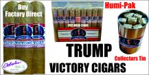 Trump Victory  2020  (8) Cigar Collectors Humi-Pak + FREE MAGA Robusto Cigar