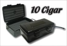 ABS Hard Shell 10 Cigar Case W/Humidifier