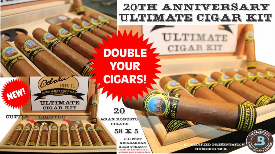 Double Your Cigars (cigars only) must buy the 20th anniversary kit