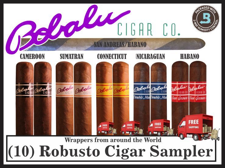 Wrappers of the World Sampler 10 Robusto + FREE Dual wrapper Panatella