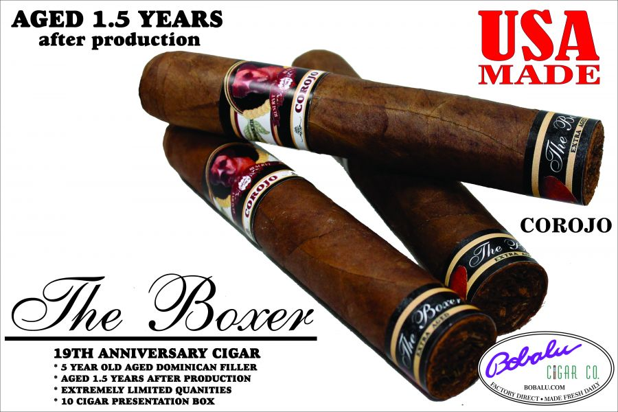 The Boxer Limited Reserve Cigars single cigar 50 x 5 Corojo