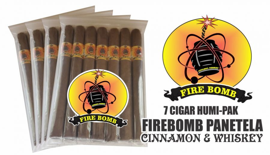 Fire Bomb Whiskey/Cinnamon Flavored Panatela Cigars