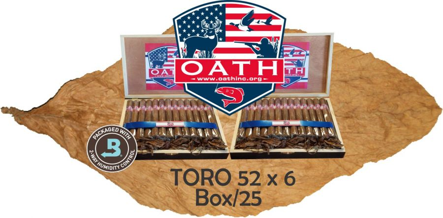 Oath Limited Edition Cigars Hand Made in the USA!!! Toro Box/25