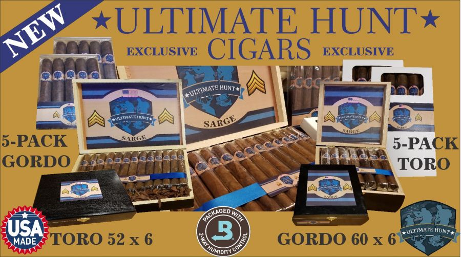 Ultimate Hunt Limited Edition Cigars Hand Made in the USA!!! Toro Box/25
