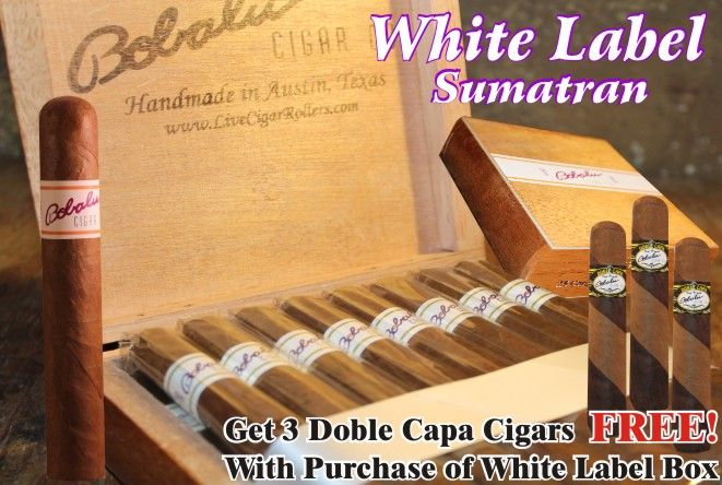 Dominican Natural : White Label Deal  + 3 doble capa cigars